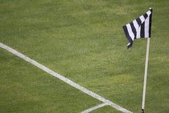 Marque et drapeau faisants le coin Image libre de droits
