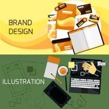 Marque et web design illustration de vecteur