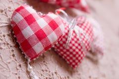 Marque faite main de coeur rouge Images libres de droits