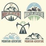 Marque l'aventure de montagne Image libre de droits