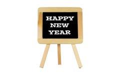 """Marque la pizarra con tiza  """"Happy de Year†de las palabras el nuevo Fotografía de archivo"""