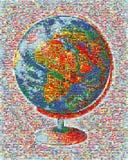 Marque le monde de mosaïque images stock