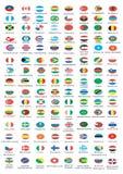 Drapeaux nationaux Images libres de droits