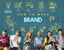 Marque stigmatisant le label Logo Marketing Concept de Copyright Images stock