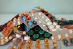 Marque sur tablette des pilules Photos stock