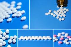 Marque sur tablette la médecine, pilules Image stock
