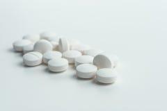 Marque sur tablette la médecine pour la santé des personnes Photo stock