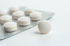 Marque sur tablette la médecine pour la santé des personnes Image libre de droits