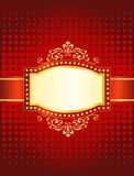 Marquee background. Blank movie, theater or casino marquee with neon bulbs on red halftone background Stock Photography