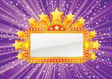Marquee banner. With stars and lights, file is separated on layers Stock Images