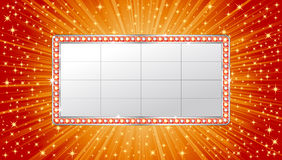 Marquee banner. On shiny background Stock Photos