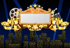 Marquee banner. With cinema equipment Stock Photo