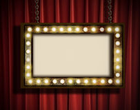 Marquee and curtain Stock Photography