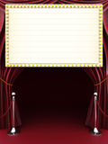 Marquee with curtains. Red carpet and barriers with room for text or copy space Stock Photo