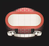 Marquee with film strip banner Stock Photography