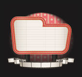 Marquee with film strip banner Royalty Free Stock Photo