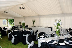 Marquee Interior Stock Photo