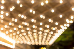 Marquee Lights Blurred Defocused Stock Photography