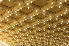Marquee Lights on Broadway Theater Ceiling royalty free stock photo