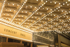 Marquee Lights at Broadway Theater Entrance Stock Image