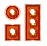Marquee lights vector illustration. Marquee lights close-up vector illustration on white background Royalty Free Stock Images