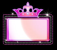 Marquee sign. Illustration of a theater marquee sign Stock Image