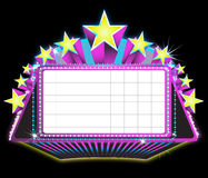 Marquee sign. Illustration of a theater marquee sign Royalty Free Stock Images