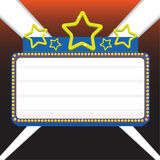 Marquee sign. Movie marquee sign vector illustration for displaying your text Royalty Free Stock Image