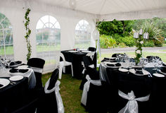 Marquee Wedding Stock Photography