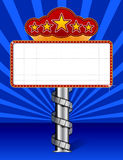 Marquee with wraps film strip illustration Stock Photo