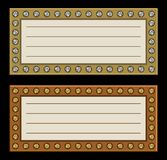 Marquees frame with diamonds Royalty Free Stock Photography