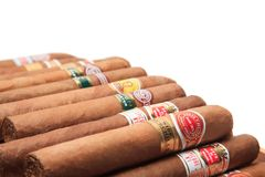 Marques cubaines de cigares Photo stock