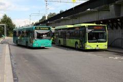 Marques de bus de ville Photo libre de droits
