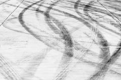 Marques de dérapage sur la couche de surface Images libres de droits