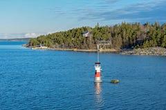 Marques de navigation dans l'archipel de Turku Photographie stock libre de droits