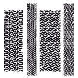 Marques de pneu illustration stock