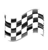 Marques de pneu de drapeau Images stock