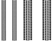 Marques de pneu réglées Photographie stock libre de droits
