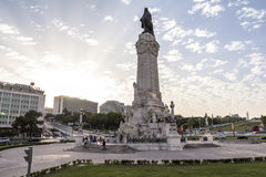 Marques de Pombal roundabout in Lisboa, Portugal royalty free stock photography