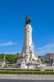 Marques de Pombal Square en Monument in Lissabon Royalty-vrije Stock Afbeelding