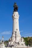 Marques de Pombal Square en Monument in Lissabon stock fotografie