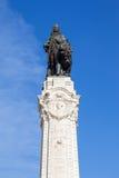 Marques de Pombal Square en Monument in Lissabon stock foto's