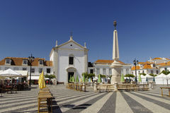 Marques de Pombal square in Vila Real de Santo Antonio Royalty Free Stock Image