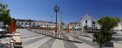 Marques de Pombal square in Vila Real de Santo Antonio Stock Photography