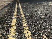 Marques de route Images libres de droits