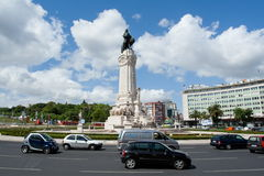 Marques do Pombal Roundabout Lissabon royalty-vrije stock foto