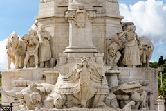 Marques do Pombal statue Lisbon, Portugal Royalty Free Stock Photography