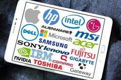 Marques et logos d'ordinateur (PC) Photos stock
