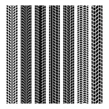 Marques noires de pneu Photos libres de droits