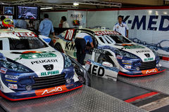 Marques and Pizzonia Stock Cars Interlagos Brazil Royalty Free Stock Photography